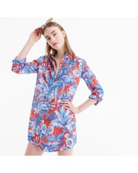 J.Crew - Long-sleeve Popover Beach Shirt In Ratti Rio Floral - Lyst