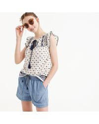 J.Crew - Point Sur Seaside Short In Chambray - Lyst