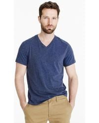 J.Crew - Mercantile Broken-in V-neck Heather T-shirt - Lyst
