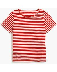 J.Crew - Supersoft Supima Raw-edge T-shirt In Stripes - Lyst