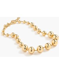 J.Crew - Graduated Gold Ball Necklace - Lyst
