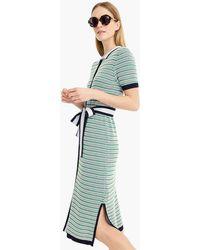J.Crew - Belted Sweater-dress - Lyst