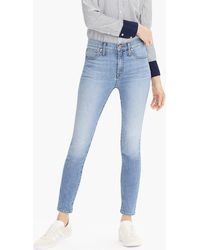"""J.Crew - 9"""" High-rise Toothpick Eco Jean In Light Blue Wash - Lyst"""