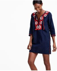 J.Crew - Embroidered Beach Tunic - Lyst
