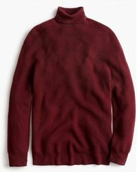 J.Crew - Destination Merino Wool Saddle-sleeve Turtleneck Jumper - Lyst
