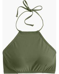 J.Crew - Cropped Halter Bikini Top - Lyst