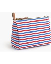 J.Crew - Striped Cosmetic Case - Lyst