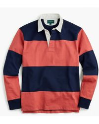 J.Crew - 1984 Rugby Shirt In Red Stripe - Lyst