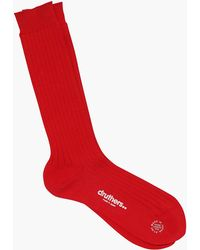 Druthers - Giza Classic Ribbed Crew Socks - Lyst
