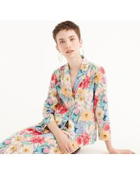 J.Crew - Collection Silk Pajama Shirt In Liberty Melody Floral - Lyst