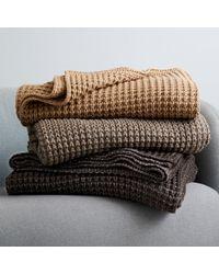 J.Crew - Compono Metallic Waffle-knit Throw - Lyst