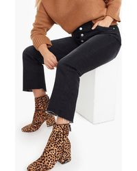J.Crew - Tall Demi-boot Crop Jean With Exposed Buttons In Charcoal Wash - Lyst