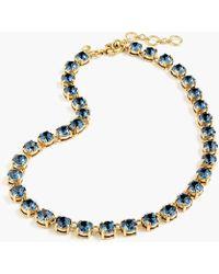 J.Crew - Swarovski Crystal Dot Necklace - Lyst