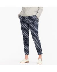 J.Crew - Tall Martie Slim Crop Pant In Elephant Two-way Stretch Cotton - Lyst