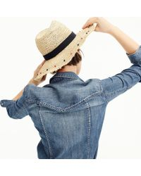J.Crew - Embellished Packable Straw Hat - Lyst
