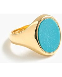 J.Crew - Demi-fine 14k Gold-plated Turquoise Ring - Lyst