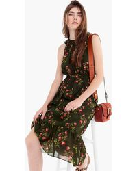 J.Crew - Point Sur High-neck Ruffle Floral Dress - Lyst