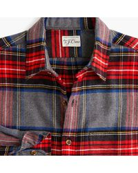 0982979e5dc6 J.Crew Midweight Flannel Shirt In Stewart Plaid in Black for Men - Lyst
