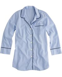 J.Crew - Nightshirt In End-on-end Cotton - Lyst