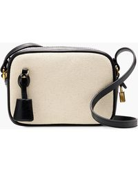 J.Crew - Mini Signet Bag In Italian Leather And Canvas - Lyst