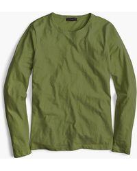 J.Crew - Long-sleeve Crewneck T-shirt In Slub Cotton - Lyst