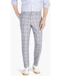 J.Crew - Ludlow Slim-fit Unstructured Suit Pant In English Cotton-wool Twill - Lyst