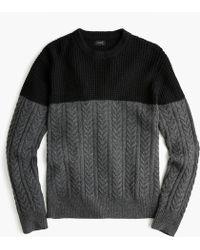 J.Crew - Rugged Merino Wool Mixed-knit Crewneck Sweater - Lyst