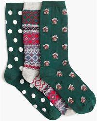 J.Crew - Trouser Socks Three-pack In Gingerbread - Lyst