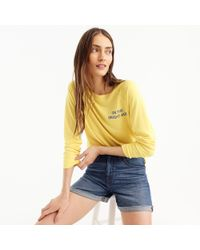 "J.Crew - ""on The Bright Side"" Sweatshirt - Lyst"