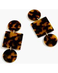J.Crew - Geometric Tortoise Earrings - Lyst