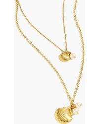 J.Crew - Shell-and-pearl Necklace - Lyst