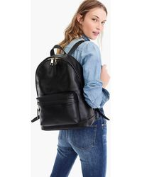 J.Crew - The Harper Backpack In Italian Leather - Lyst