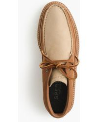 Sperry Top-Sider - Crepe Soled Leather Chukka Boots - Lyst