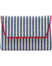 J.Crew - Convertible Envelope Clutch In Stripe - Lyst