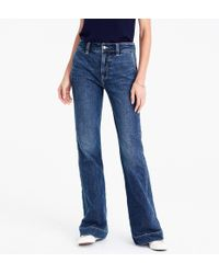 J.Crew - Tall Wide-leg Trouser Jean In Tahoe Wash - Lyst