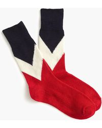 Anonymous Ism - Red Navy Crew Socks - Lyst