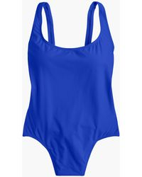 J.Crew - Plunging Scoopback One-piece Swimsuit - Lyst