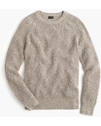 J.Crew - Marled Cotton Crewneck Sweater - Lyst
