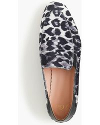 J.Crew - Convertible Smoking Slippers In Leopard - Lyst