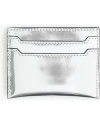 J.Crew - Leather Card Case In Mirrored Metallic - Lyst