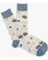 J.Crew - Vacation Print Socks - Lyst