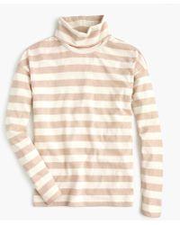 J.Crew - Deck-striped Turtleneck T-shirt - Lyst