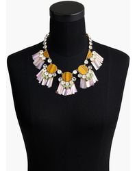 J.Crew - Crystal And Stone Fringe Statement Necklace - Lyst