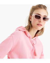 f32caebe6b J.Crew Boardwalk Sunglasses in Pink - Lyst