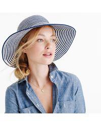 J.Crew - Striped Sun Hat In Cotton Blend - Lyst