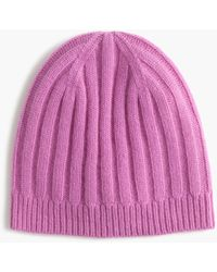 J.Crew - Ribbed Cashmere Hat - Lyst
