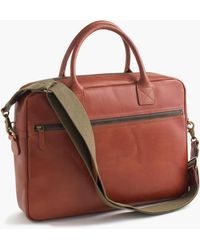 J.Crew - Leather Briefcase - Lyst