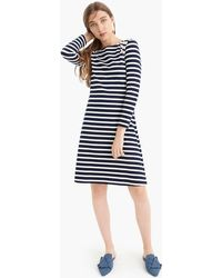 J.Crew - 365 Knit Fit-and-flare Dress In Stripe - Lyst