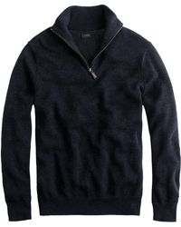 J.Crew - Slim Cotton-cashmere Half-zip Sweater - Lyst