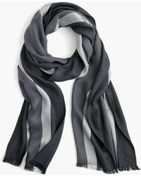 J.Crew - Lightweight Striped Wool-blend Scarf - Lyst